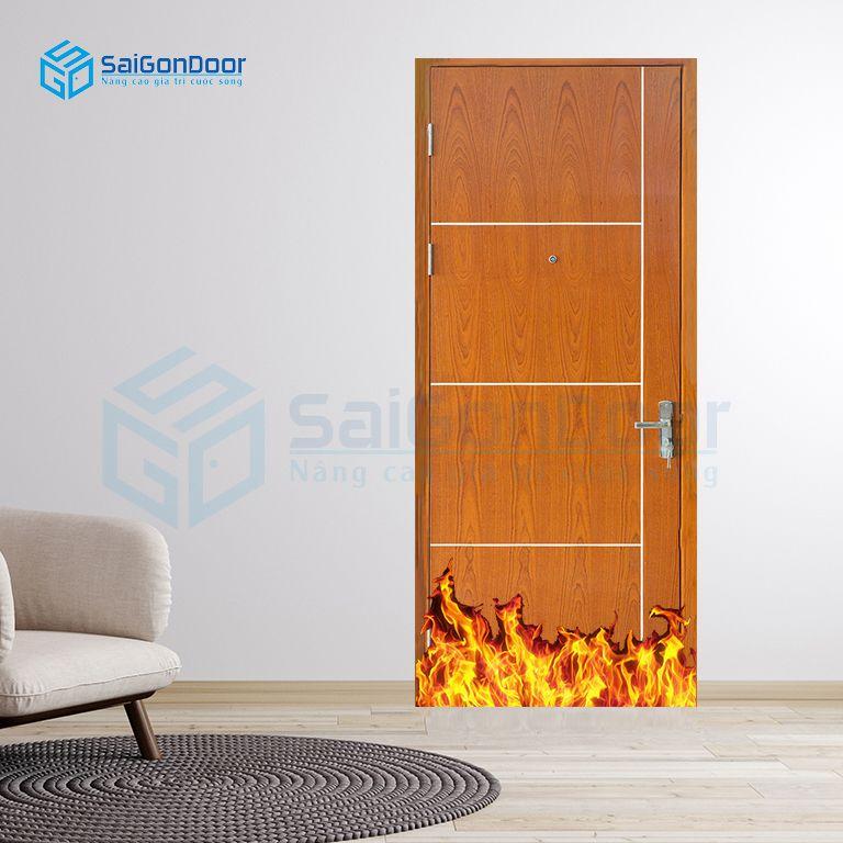 Cửa gỗ chống cháy cho nhà ở cao cấp
