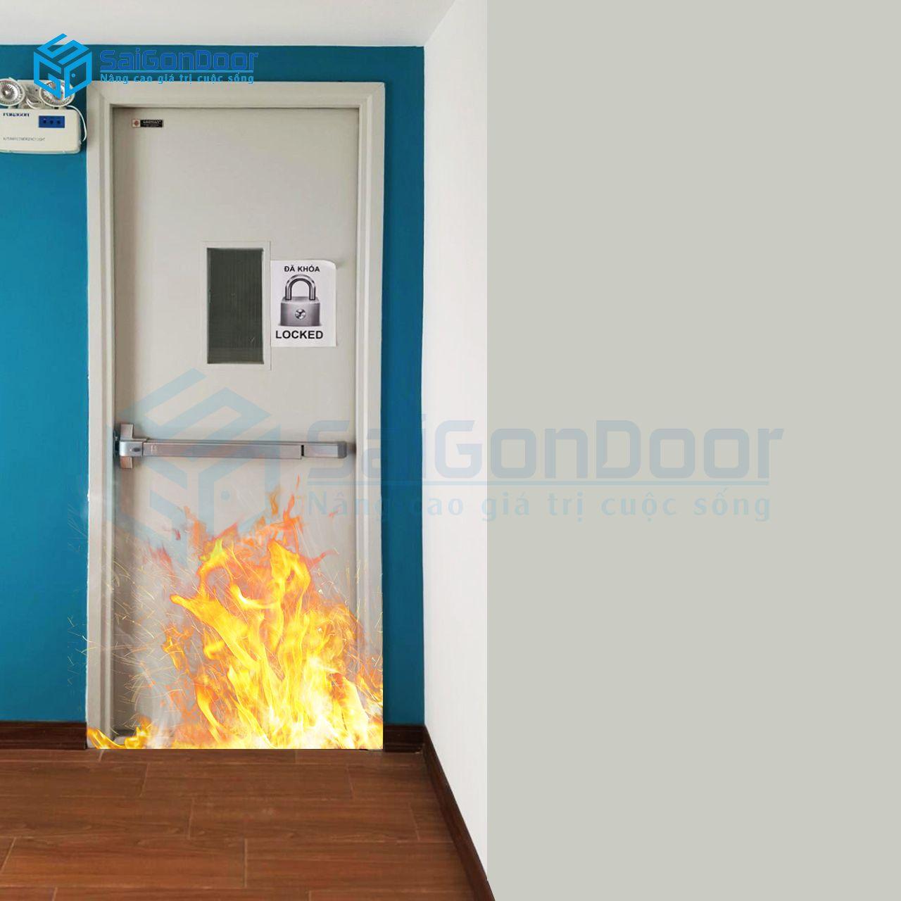 Cửa thoát hiểm dùng thép chống cháy